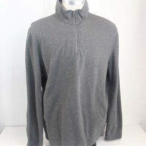 Calvin Klein Jeans Long Sleeve Shirt Zip Neck Gray